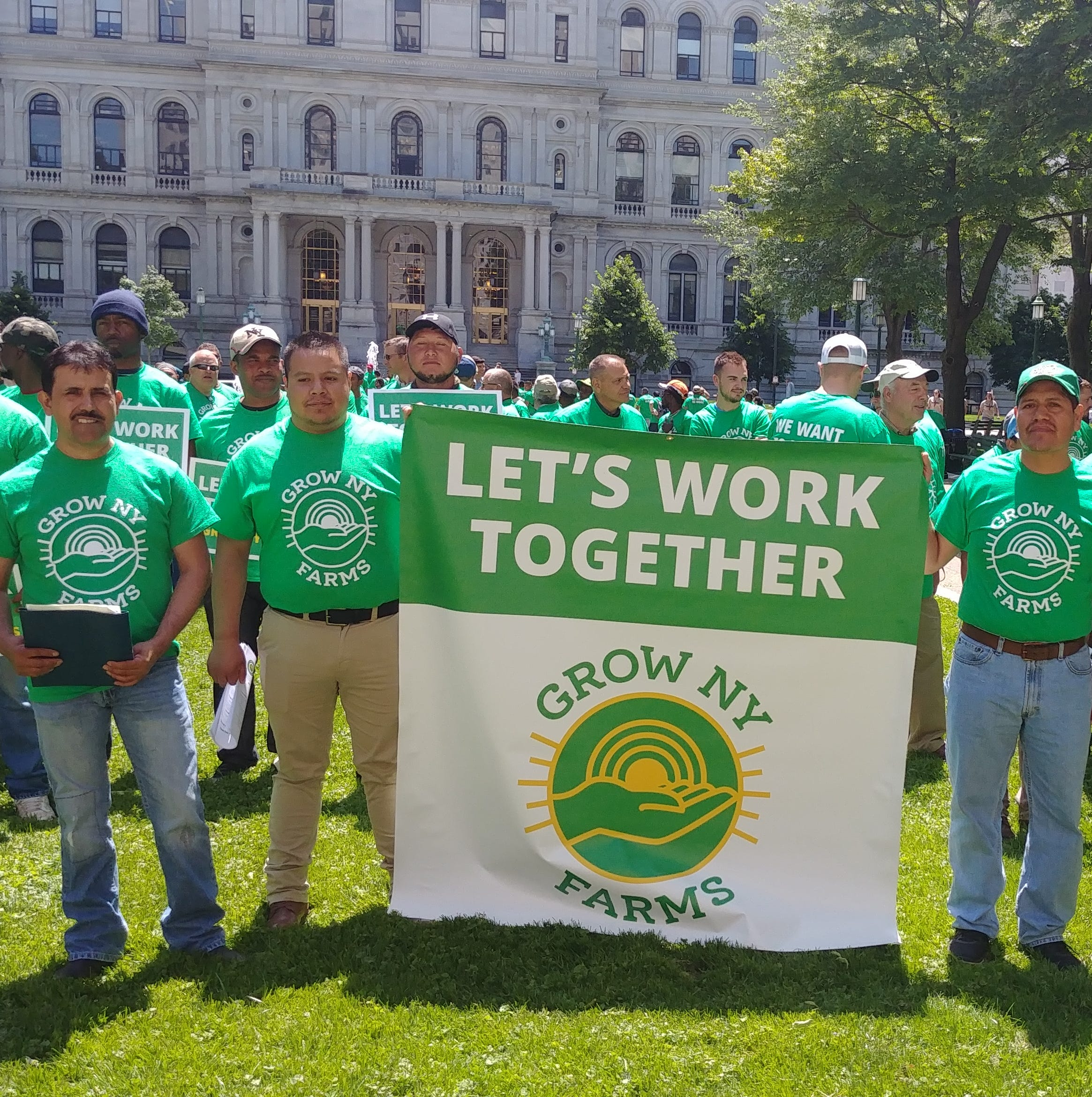 Farmers gathered in Albany on Wednesday to voice their concerns about a farm labor bill they say would negatively impact the state's agricultural industry.