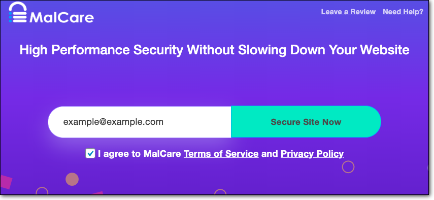 Check security with Malcare Plugin
