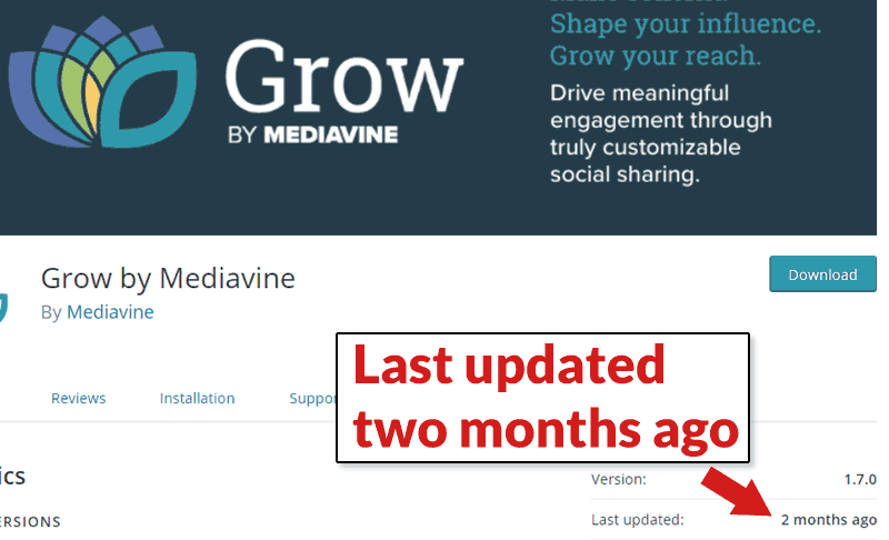 Screenshot of MediaVine's WordPress Plugin Page