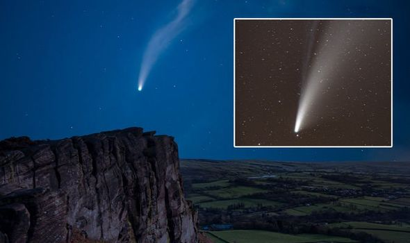 Comet NEOWISE how long is Comet NEOWISE visible
