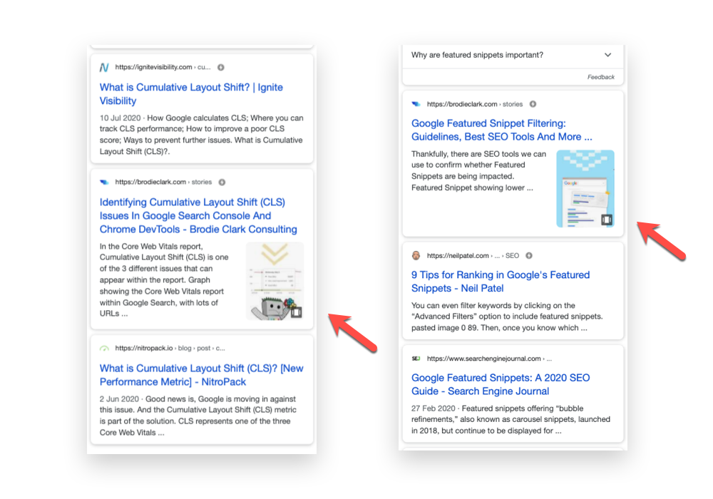 google web stories cover image standing out in search result google